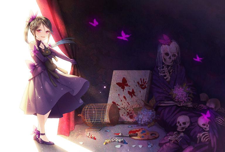 Drawings of Skeletons - Horror Aesthetics
