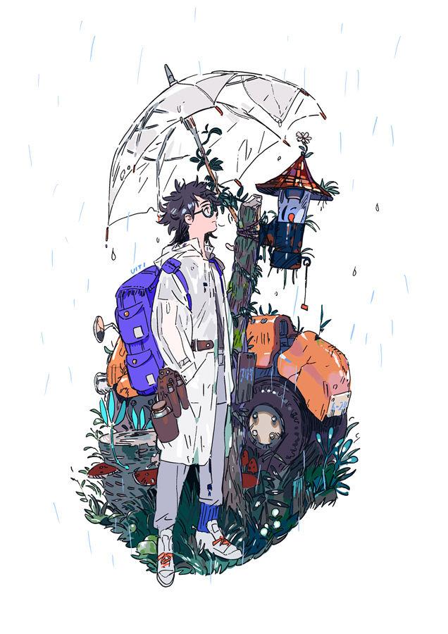 Drawings of Guys Wearing Backpacks - Wonderfully Casual♡