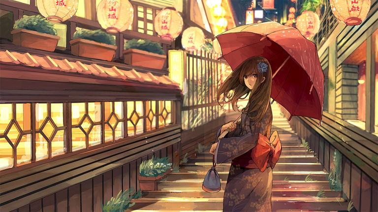 Drawings of Chinese Lanterns - Swaying Softly.