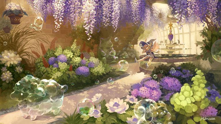 Drawings of Wisteria Flowers - Purple Rain.