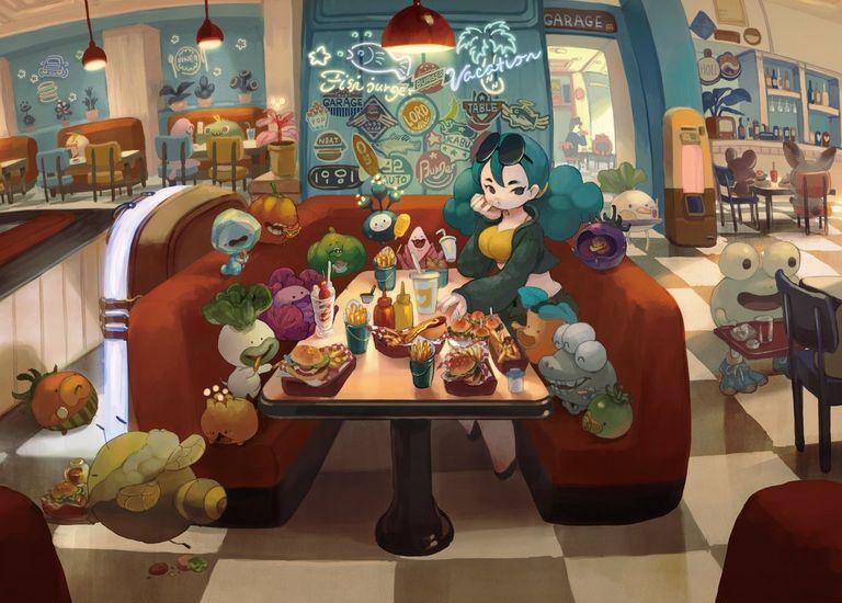 Drawings of Hamburgers - The King of Junk Food!