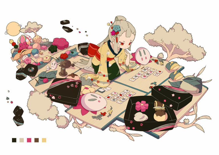 Drawings of Traditional Japanese Sweets - Enjoy the Tradition♡