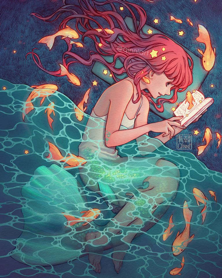 Drawings of Goldfish  - Swimming with Grace.