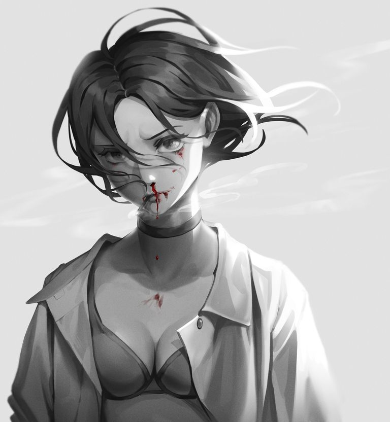 Drawings of Nosebleed - A Dripping Passion.
